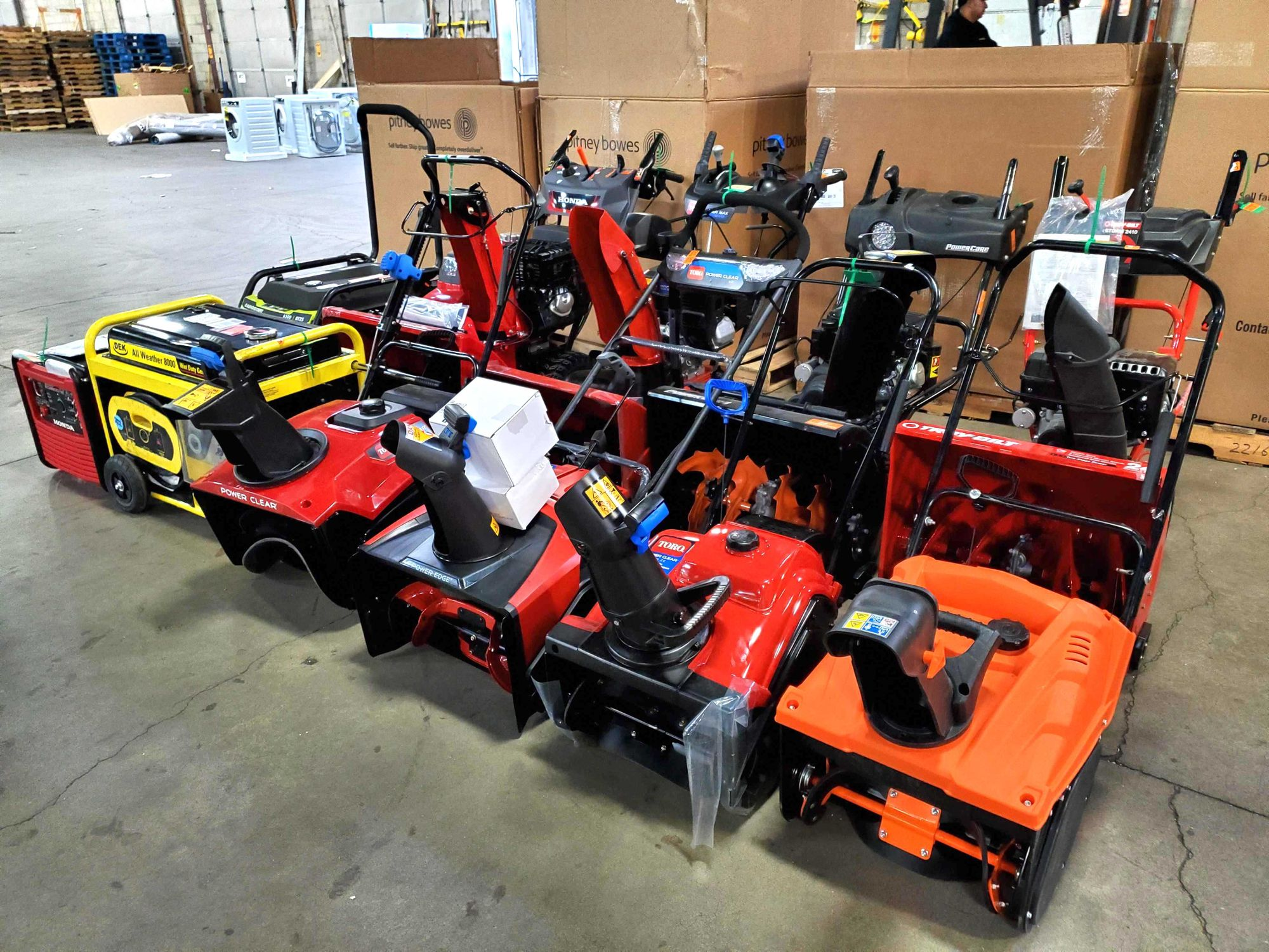 Snow blowers heading to our Woodbury store