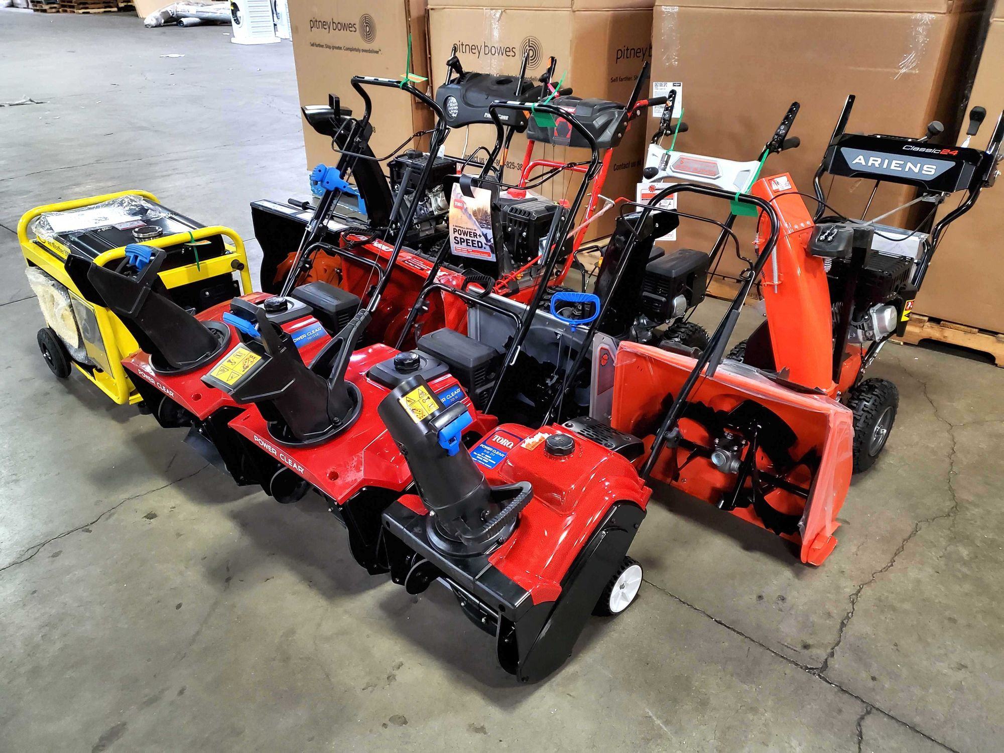 Snow blowers heading to our Coon Rapids store