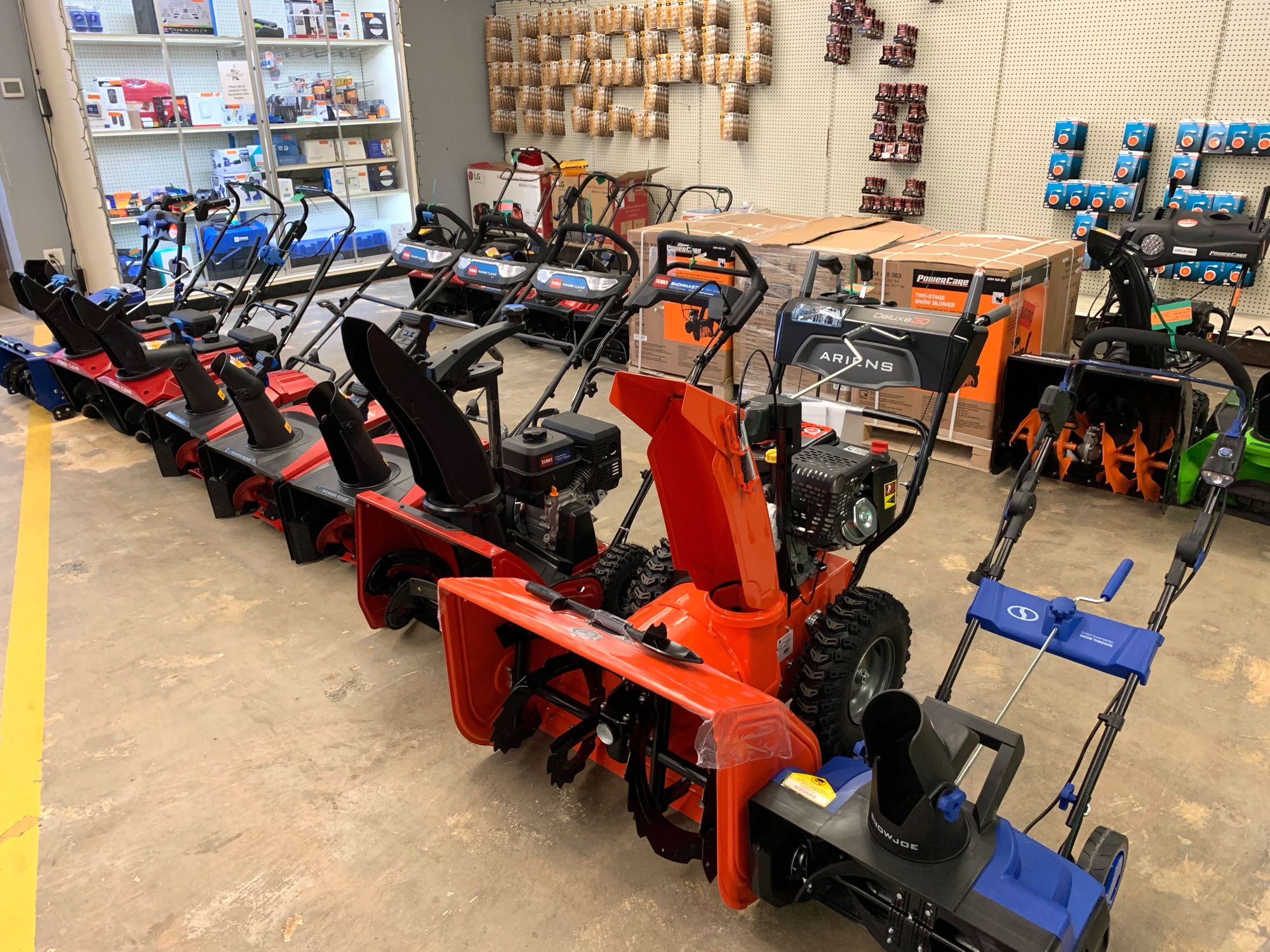 Snow blowers at our Burnsville store