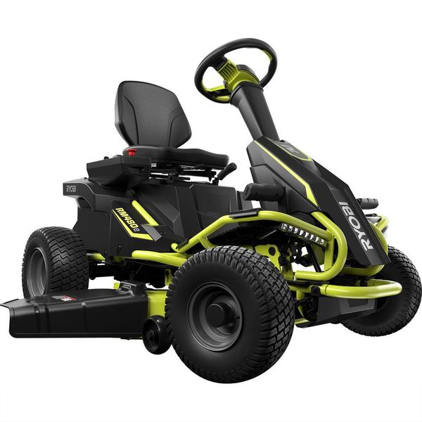 Ryobi 38 in. 100 Ah Battery Electric Rear Engine Riding Lawn Mower - $2174
