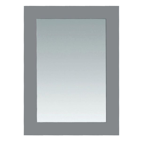 Pegasus Madison 30 in. x 22 in. Wall Mounted Mirror in Gray - $82