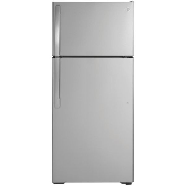 Ge 16.6 cu. ft. Top Freezer Refrigerator in Stainless Steel - $475