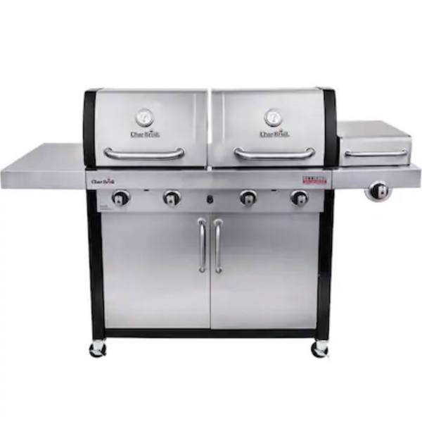 Char-Broil Commercial Stainless/Black 4-Burner Infrared Gas Grill - $599