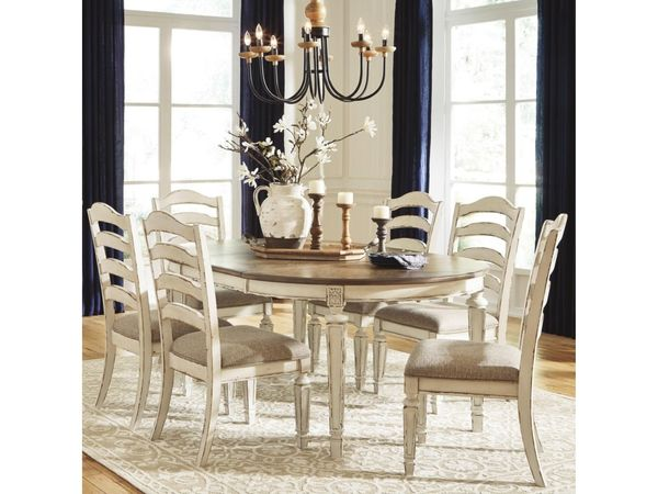 Signature Design by Ashley Realyn 7-Piece Round Table and Chair Set - $949