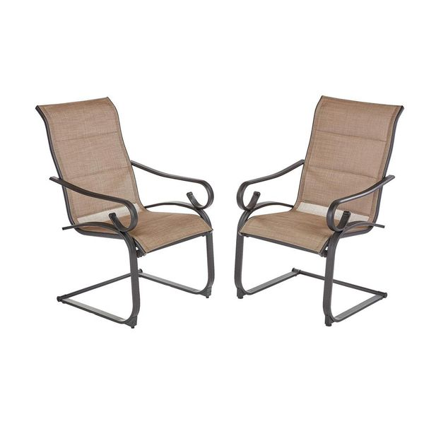 Crestridge Padded Sling Outdoor Lounge Chair in Putty (2-Pack) - $134