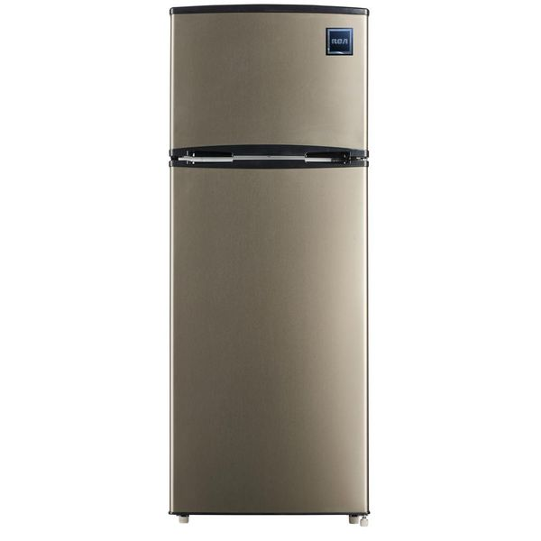 Rca 7.5 cu. ft. Mini Refrigerator with Stainless Look - $150