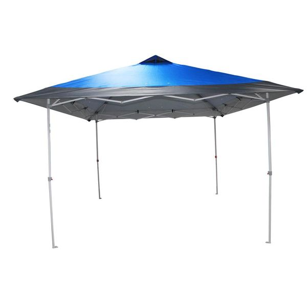 Everbilt 12 ft. x 12 ft. Blue Mega Shade Pop-Up Canopy with Grey Trim - $74