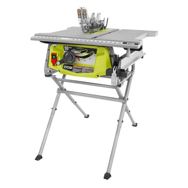 Ryobi 15 Amp 10 in. Table Saw with Folding Stand - $94
