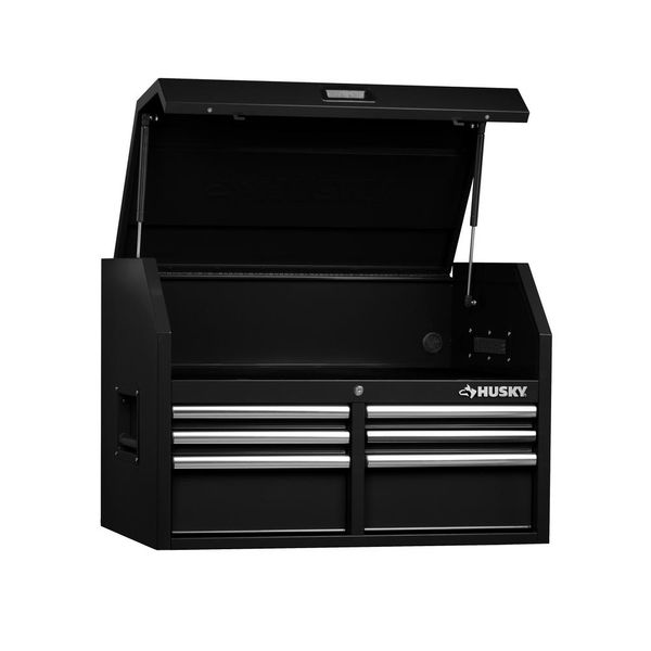Husky 36 in. W x 24.2 in. D 6-Drawer Tool Chest in Black - $149