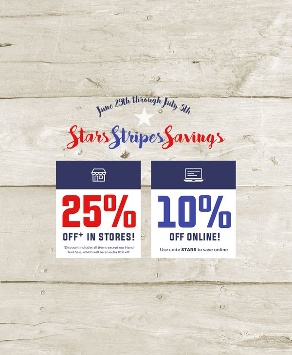 Stars, Stripes & Savings Sale - 6/29-7/5