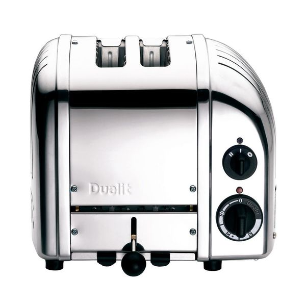 2-Slice Chrome Wide Slot Toaster with Crumb Tray - $96