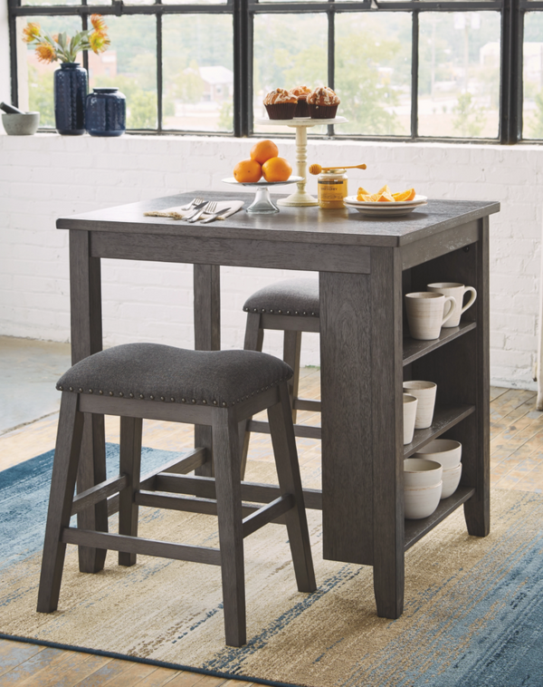 Caitbrook Counter Height Dining Room Table and Bar Stools (Set of 3) - $299