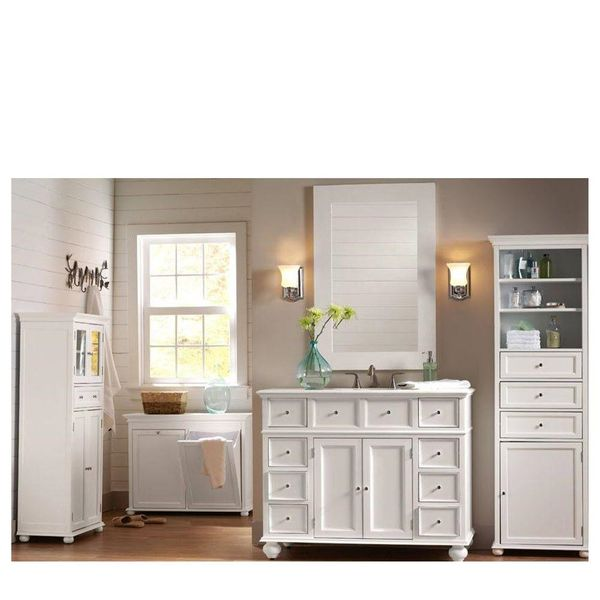 Hampton Harbor 44 in. W x 22 in. D Bath Vanity in White - $381