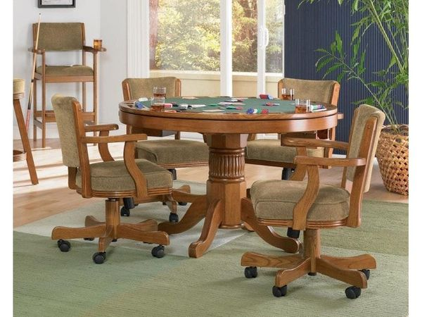 Coaster Furniture Mitchell Oak 5 Piece 3-in-1 Game Table Set - $1,799