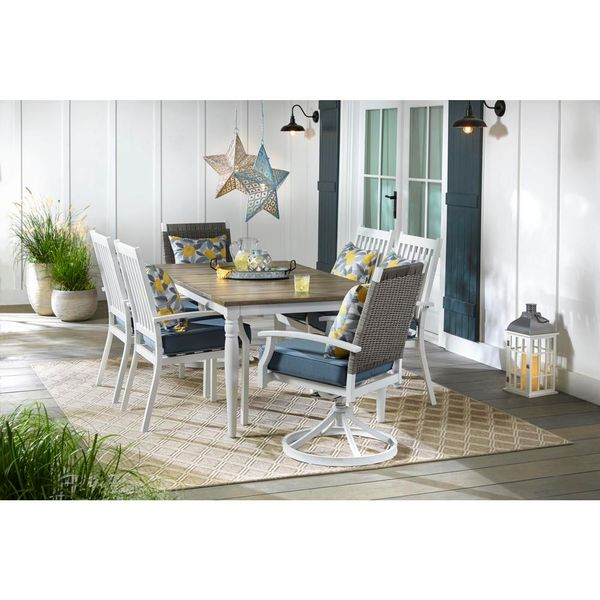 Jasper Ridge Farmhouse 7 Piece Dining Set - $499