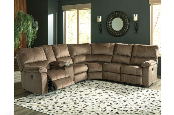 Ashley Furniture Urbino 3-Piece Power Reclining Sectional in Mocha - $1,399