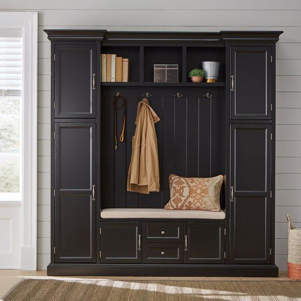 Home Decorators Collection Royce Black 79.25 in. Hall Tree - $686