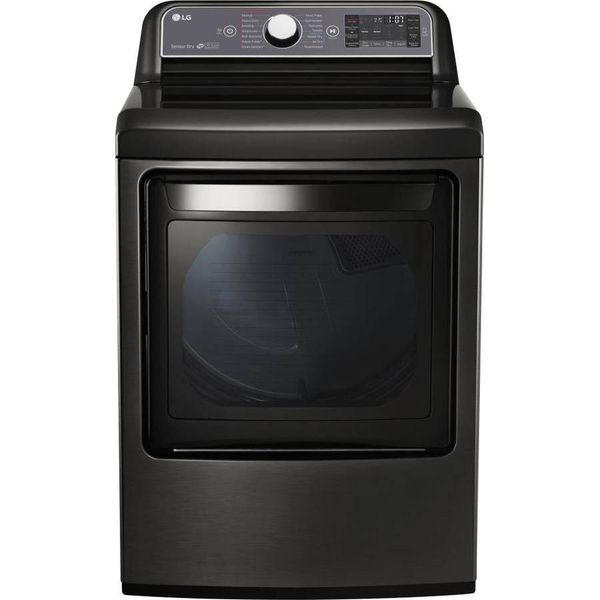 LG 7.3-cu ft Electric Dryer (Black Stainless Steel) - $753