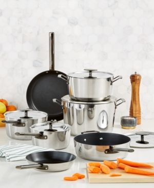 Hotel Collection 12-Pc. Performance Tri-Ply Nonstick Cookware Set - $189