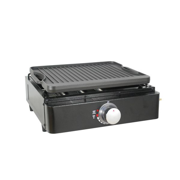 Single Burner Tabletop Propane Reversible Griddle in Black - $60