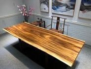 "Live Edge Walnut Dining Table 104""x 42""x 2.36"" - $1,599"