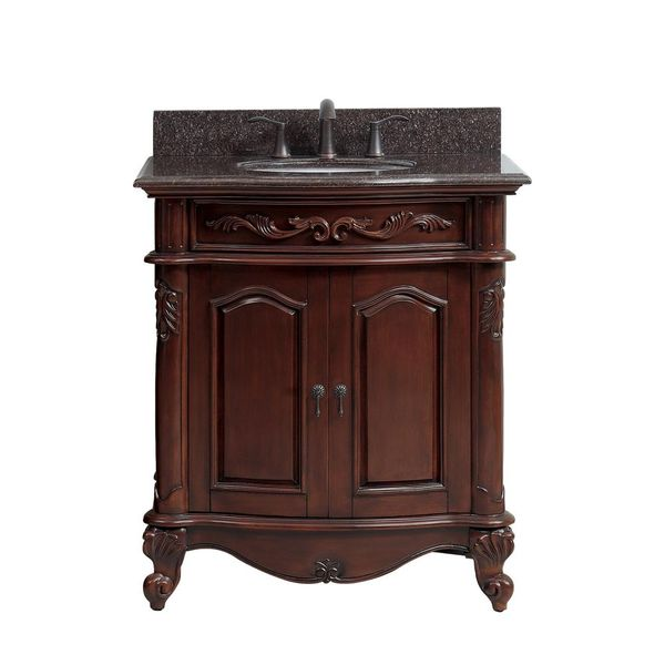 Provence 31 in. W x 22.5 in. D x 35 in. H Vanity in Antique Cherry - $733