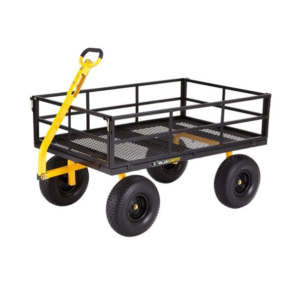 Gorilla Carts 1,400 lb. Super Heavy Duty Steel Utility Cart - $99