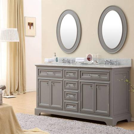 60 in. W x 21.5 in. D x 34 in. H Vanity in Cashmere Grey - $904