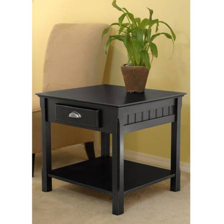 Winsome Wood Timber Black End Table - $42