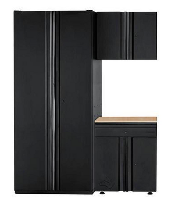 Husky 64 in. W x 81 in. H x 24 in. D Steel Garage Cabinet Set in Black - $812