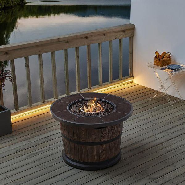 Bromo 36 in. x 24 in. Round MGO Liquid Propane Fire Table - $354