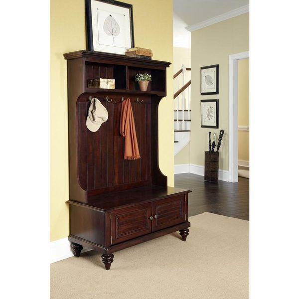 Homestyles Bermuda Espresso Hall Tree - $178