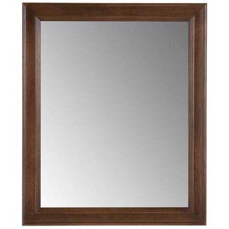 Glensford 26 in. x 31 in. Single Framed Wall Mirror in Butterscotch - $50