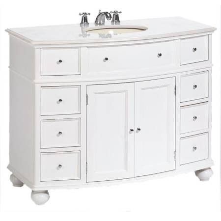 Hampton Harbor 45 in. W x 22 in. D Bath Vanity in White - $584