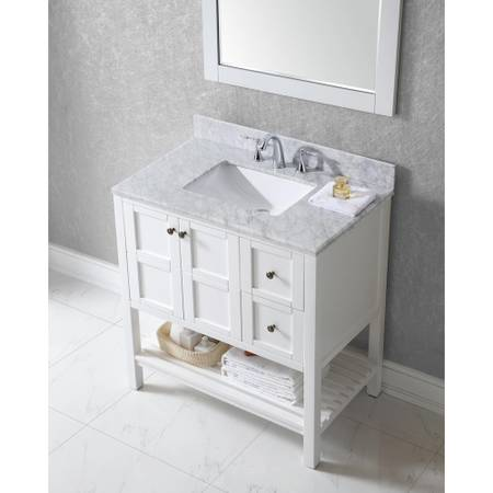 Winterfell 36 in. Vanity in White with Marble Vanity Top - $551