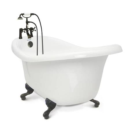 Chelsea 60 in. Acrylic Slipper Clawfoot Bathtub Package in White - $795