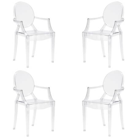 Poly And Bark Burton Clear Arm Chair (Set of 4) - $94