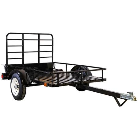 1,295 lbs. Payload Capacity Open Rail Steel Utility Flatbed Trailer - $749