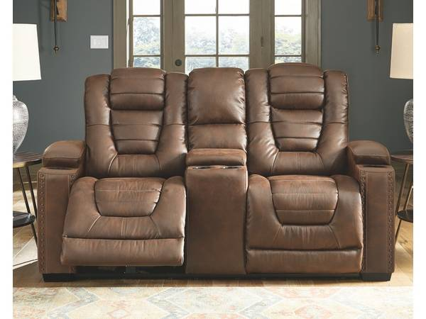 Owner's Box Power Reclining Loveseat with Console - $869