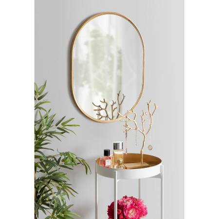 Medium Oval Gold Neo-Classical Mirror (24 in. H x 18 in. W) - $50