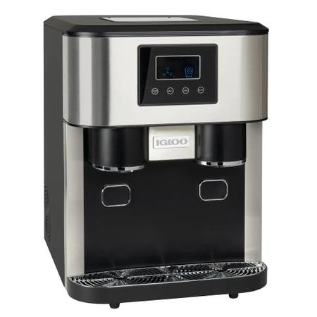 Igloo 33 lb. Portable Ice Maker and Crusher in Stainless Steel - $250