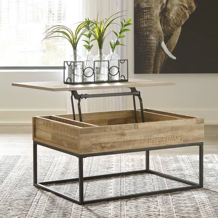 Signature Design by Ashley Gerdanet Natural Lift Top Coffee Table - $149