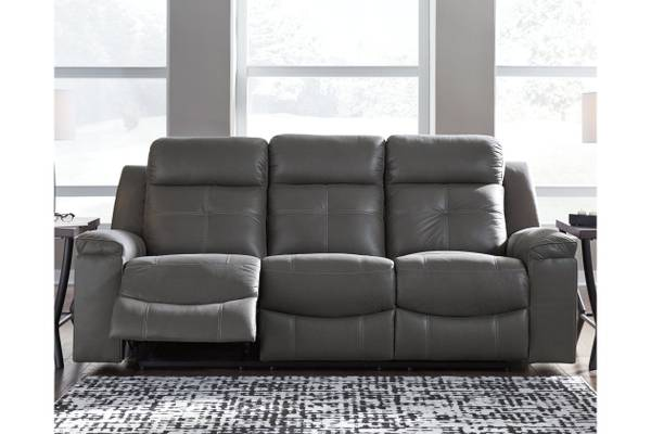 Ashley Furniture Jesolo Reclining Sofa in Dark Gray - $649