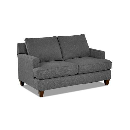 Paxton 62 in. Charcoal Linen 2-Seater Loveseat - $356